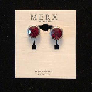 Merx Red Studs